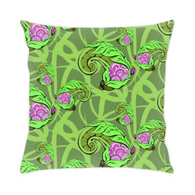 Подушка растительный цветочный фон декоративный