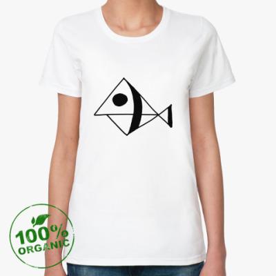 Женская футболка из органик-хлопка Рыба
