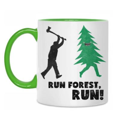 Кружка Run forest run! New Year