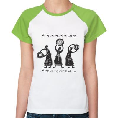 Женская футболка реглан Шаманы