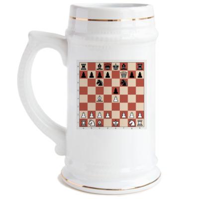 Пивная кружка  кружка. Шахматы
