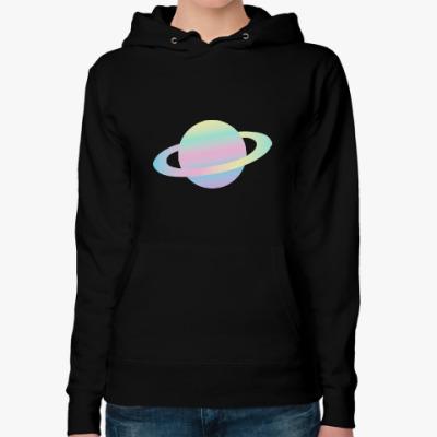 Женская толстовка худи Saturn
