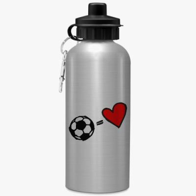 Спортивная бутылка/фляжка Очень люблю футбол