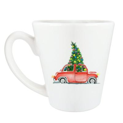 Чашка Латте Спешим на праздник