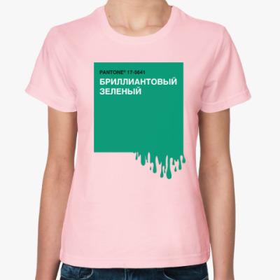 Женская футболка Зеленка