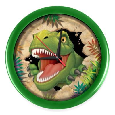 Настенные часы динозавр