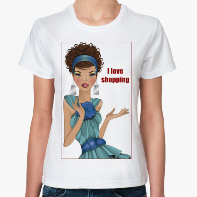 Классическая футболка Девушка