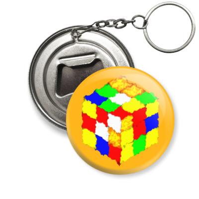 Брелок-открывашка Кубик Рубика