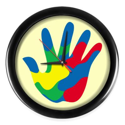 Настенные часы Отпечаток Руки