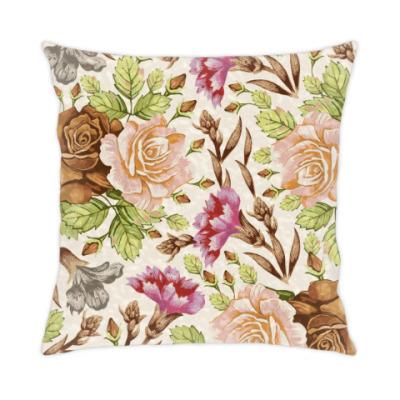 Подушка винтажные цветы