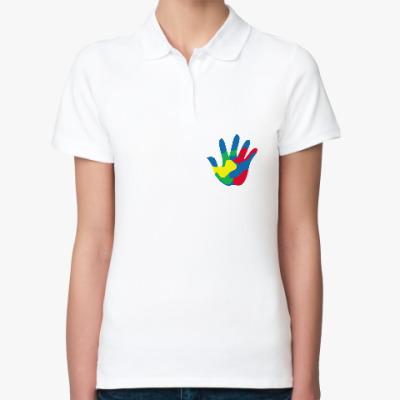 Женская рубашка поло Отпечаток Руки