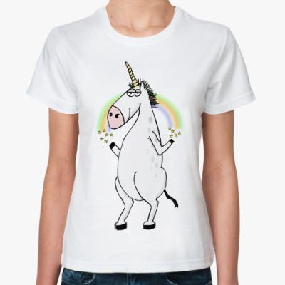 Классическая футболка Единорог
