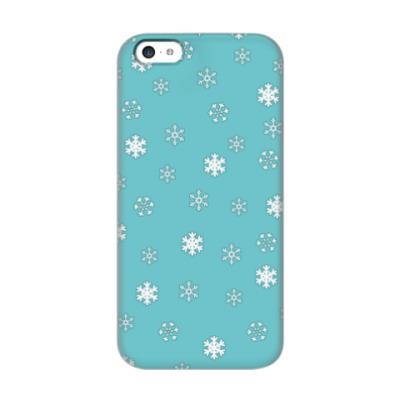 Чехол для iPhone 5c Снежок