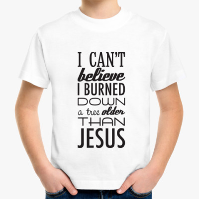 Детская футболка 'Jesus'