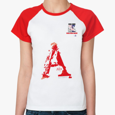 Женская футболка реглан Морской флаг «Alfa»