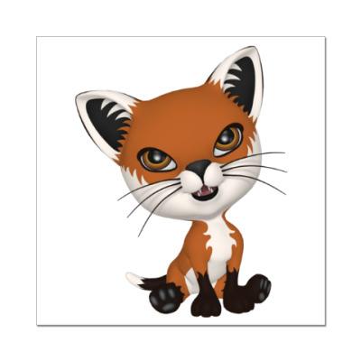 Наклейка (стикер) Рыжий котенок