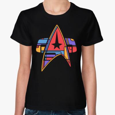 Женская футболка Star trek