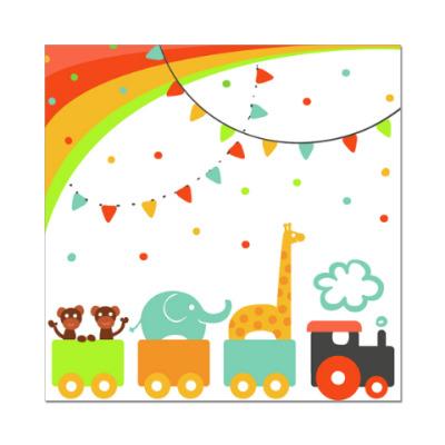Наклейка (стикер) Цирковой поезд