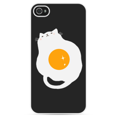 Чехол для iPhone Кот-яичница