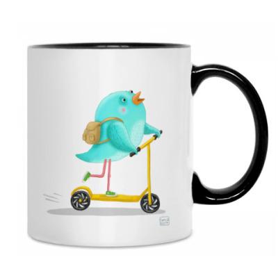 Птицы на самокате и роликах