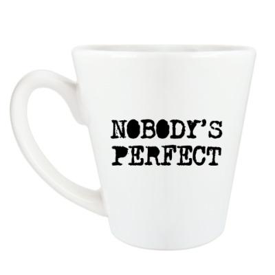 Чашка Латте Надпись Nobody's perfect