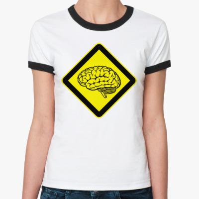 Женская футболка Ringer-T Мозг