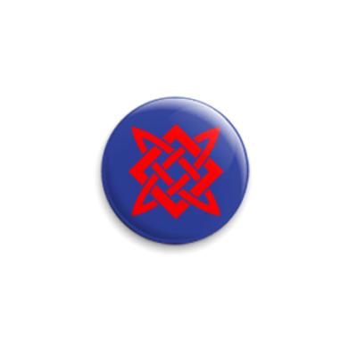 Значок 25мм Звезда Сварога