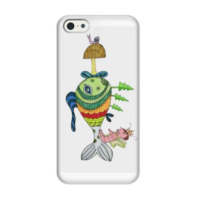 Чехол для iPhone 5/5s Гриб в рыбе