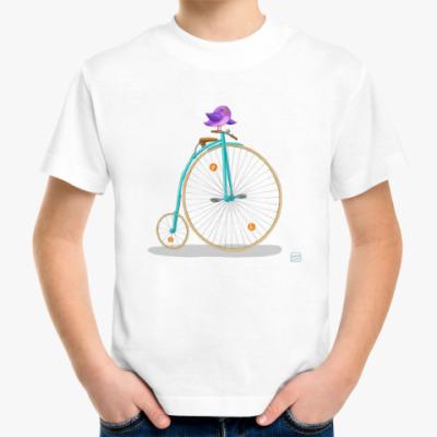 Детская футболка ретро велосипед