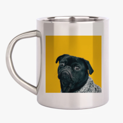 Кружка металлическая Пёс, который тебя любит
