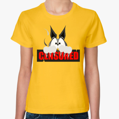 Женская футболка Кот Антицензор