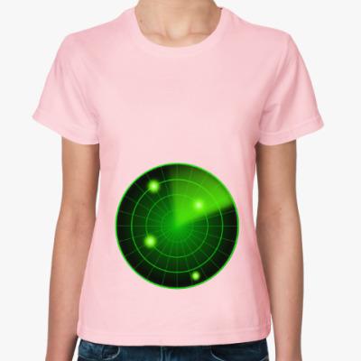 Женская футболка Радар