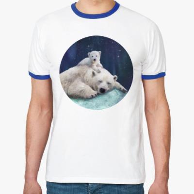 Футболка Ringer-T Полярные белые медведи
