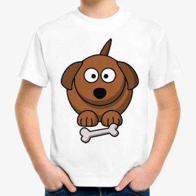Детская футболка Собачка с косточкой