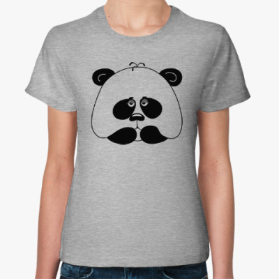 Женская футболка Грустная панда