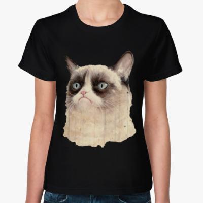 Женская футболка Grumpy Cat / Сердитый Кот
