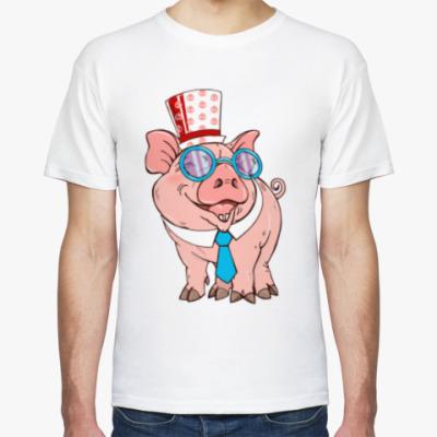 Футболка Свинка нас любит