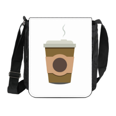 Сумка на плечо (мини-планшет) Кофе всегда с тобой