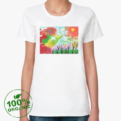 Женская футболка из органик-хлопка 'Весне дорогу'