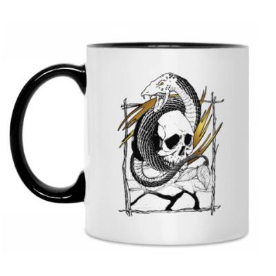 Кружка Змей с черепом