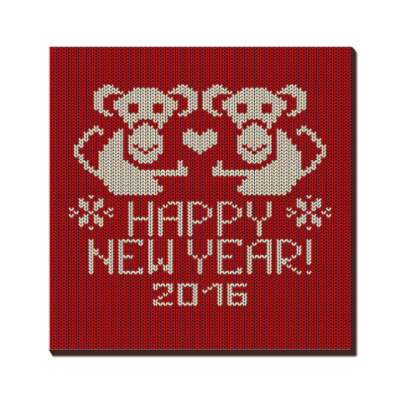 Новогодний с обезьяной 2016