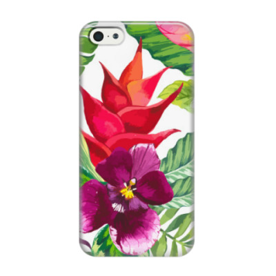 Чехол для iPhone 5/5s Tropical flowers