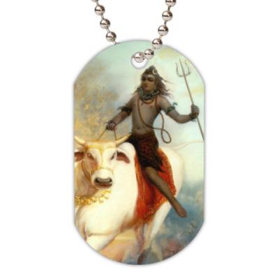 Жетон dog-tag Бог Шива