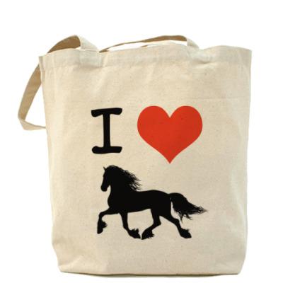 Сумка Я люблю фризских лошадей