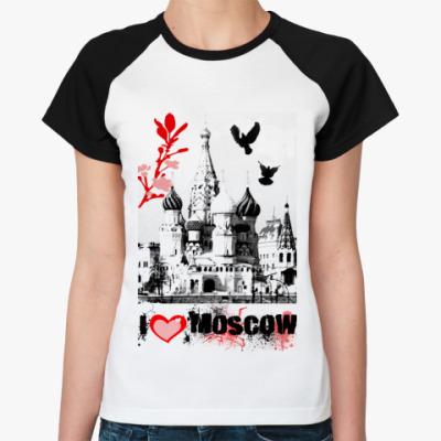 Женская футболка реглан Love Moscow