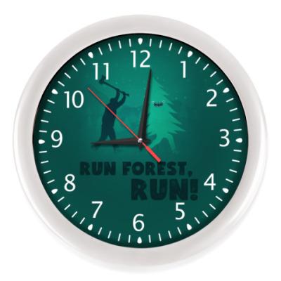 Настенные часы Run forest run! New Year