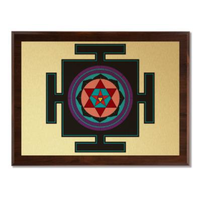 Плакетка Вартали-янтра для медитаций