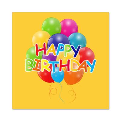 Наклейка (стикер) Happy Birthday
