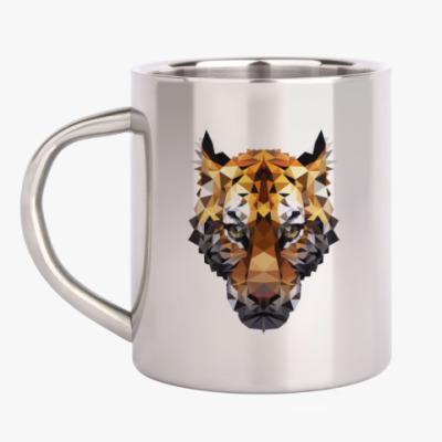 Кружка металлическая Тигр / Tiger