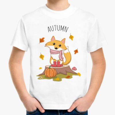 Детская футболка Лиса и осень